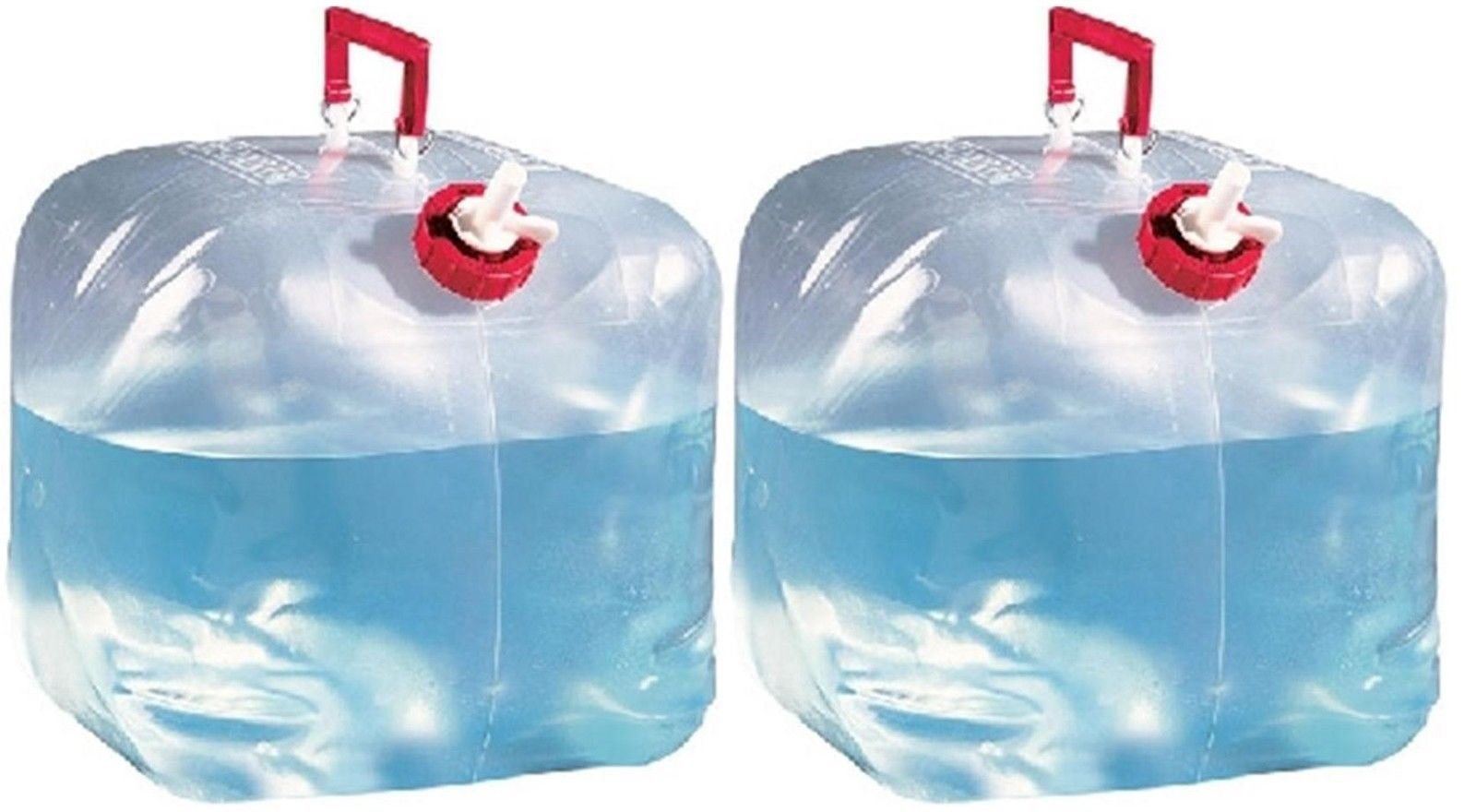 Reliance (2) 5 Gallon Collapsible Water Containers Jugs 5000-13 by Reliance Products