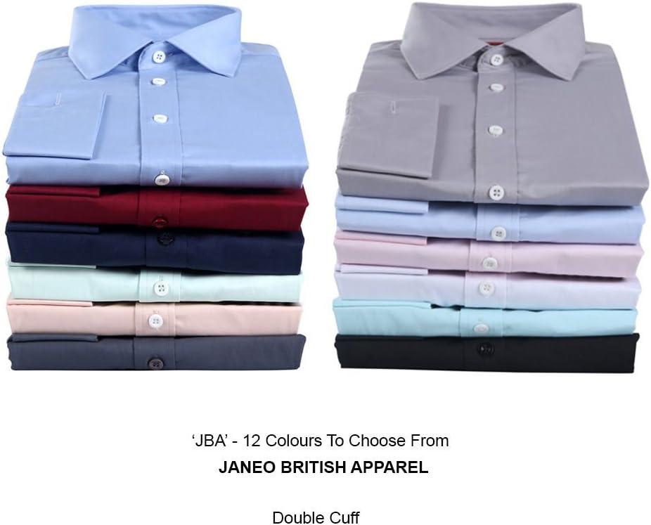 Janeo British Apparel Camisa de Manga Larga para Hombres ...