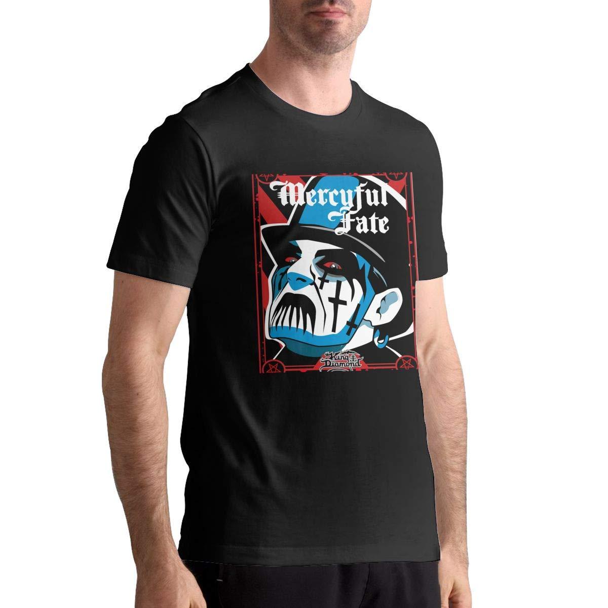King Diamond-Mercyful Fate Mens Basic Short Sleeve Music Band T-Shirts Black