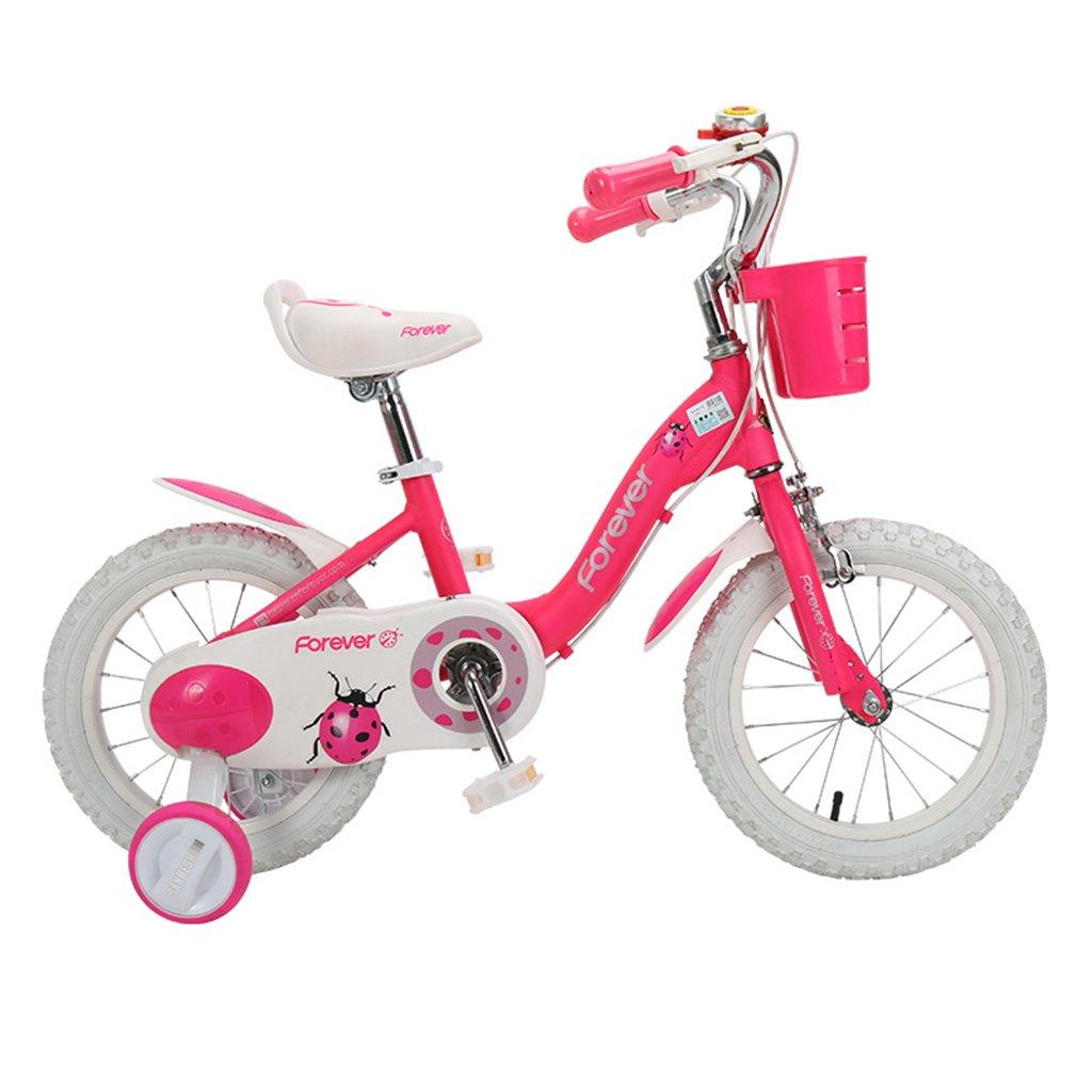 キッズ ロード 自転車 キッズ バランス バイク 子供 自転車 男性 女性 子供 3-8歳 プリンセス 自転車 14インチ ペダル ベビーカー 14Inch ピンク B07J3XLX3S  ピンク 14Inch