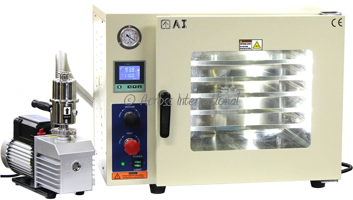 Across International Ai AT19wv Steel AccuTemp Vacuum Oven with 9 CFM Dual Stage Vacuum Pump, 1.9 cu ft, 5-Sided Heating for 25% Faster Heat - 110V Power by Across International