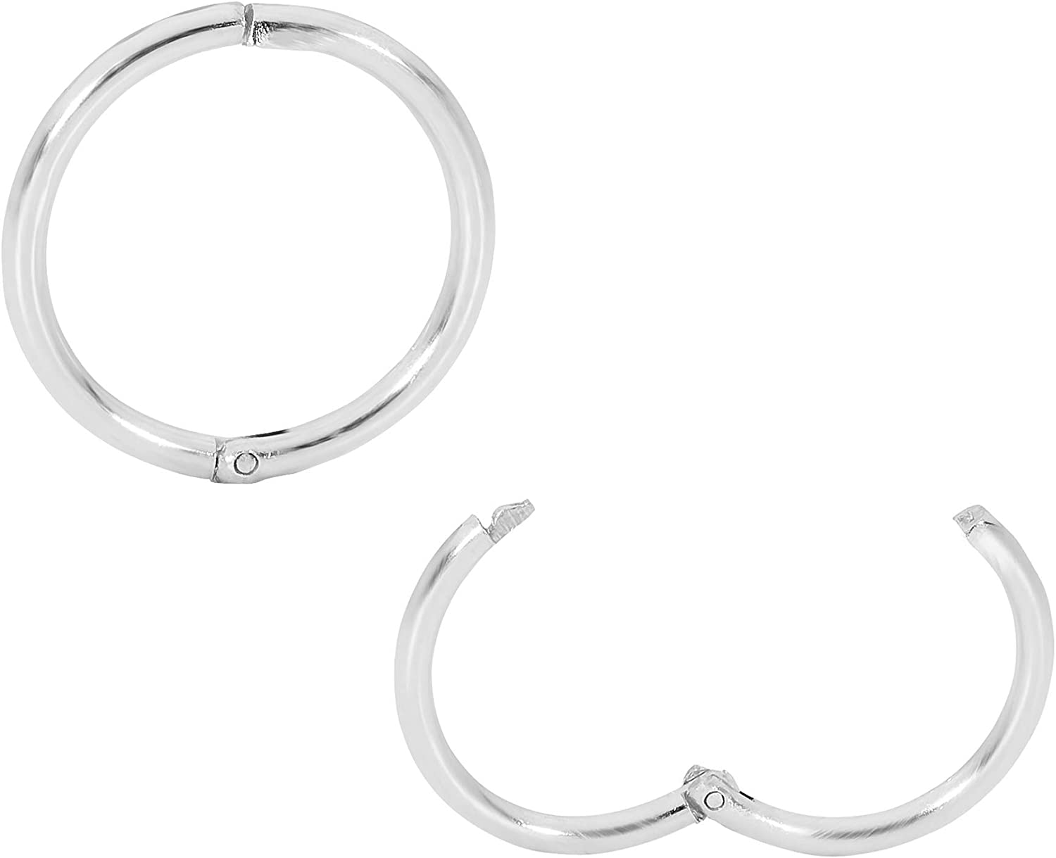 365 Sleepers 1 Pair Solid Sterling Silver 18G Hinged Hoop Sleeper Earrings Made In Australia 8mm / 10mm / 13mm / 16mm / 20mm