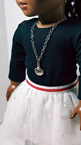 Available in 4 different options. 18 inch doll clothes chain link and Our Generation Dolls AG Nautical doll necklace