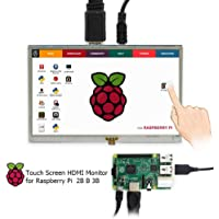 LANDZO 5 Inch Touch Display for Raspberry pi 3 Model B (Plus) pi 2 and Banana Pi