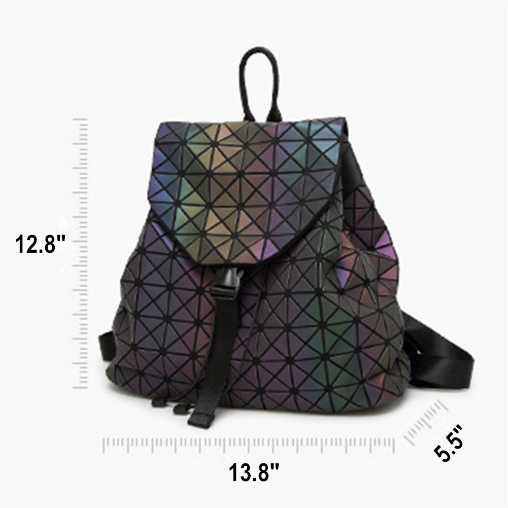 Amazon.com  HotOne Shard Lattice Design Geometric Backpack Holographic  Reflective Backpacks PU Leather Fashion Backpack(Luminous)  Clothing 732efed8f1404