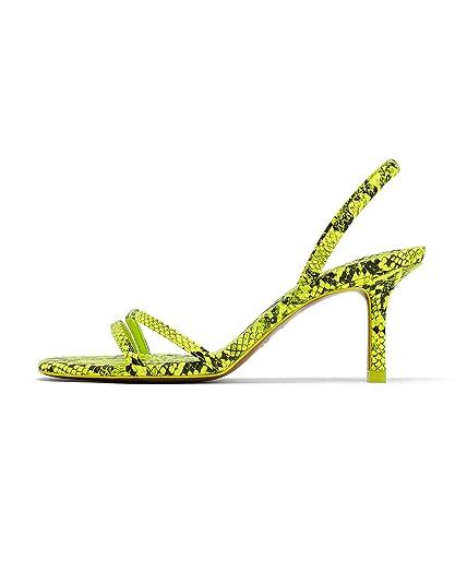75568919254 Zara Women s Animal Print Heeled Sandals 2346 001  Amazon.co.uk ...