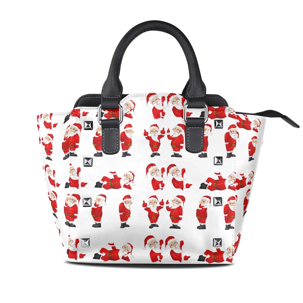 Funny And Santa Claus Womens fashion Handbags Shoulder Bags Handle Satchel