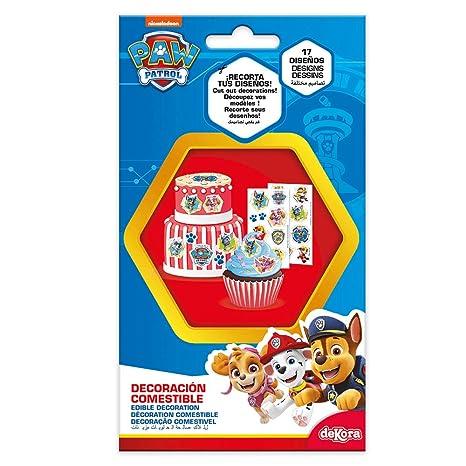 Amazon.com: Dekora 231345 for PAW PATROL fans Edible cake ...