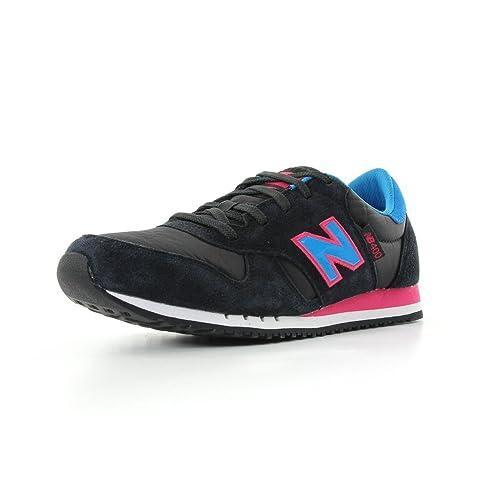 New Balance M 400 - Zapatillas de deporte de cuero para hombre negro Noir, rose et bleu 41.5: Amazon.es: Zapatos y complementos