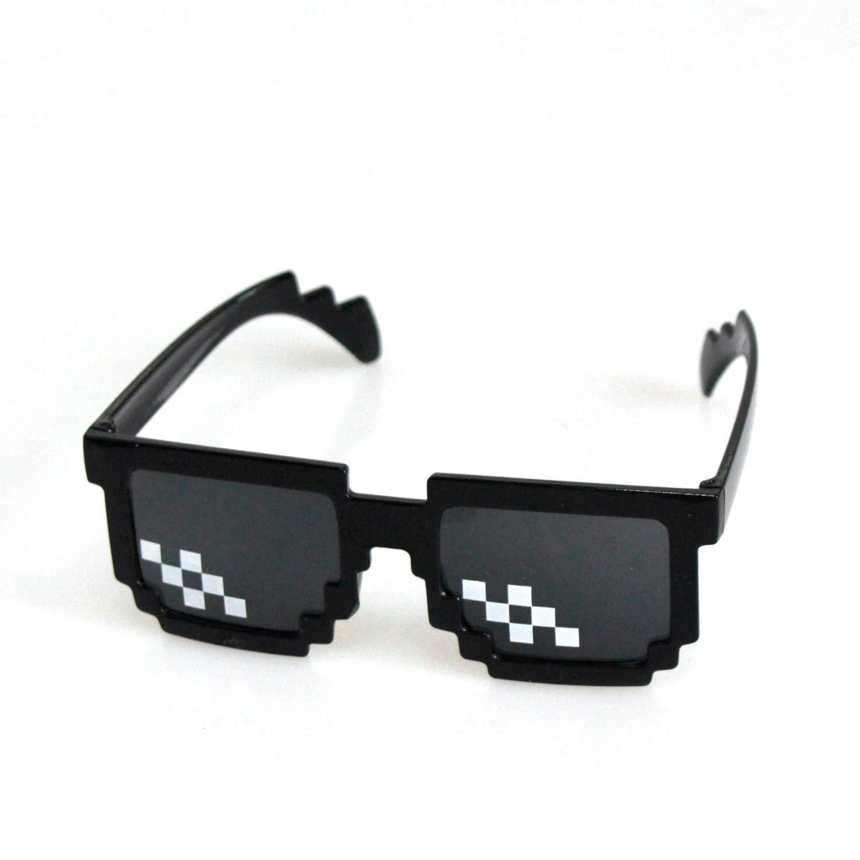 9f6e490a21 SHI WU Gafas de sol Thug Life (Paquete de 6), gafas de mosaico Glass 8 Bit  Pixel para hombres y mujeres perfectos para la fiesta, es un juguete para  gafas ...