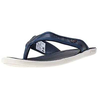 ea22a494d307c Lacoste Carros 6 Mens Flip Flops Dark Blue - 6 UK  Amazon.co.uk ...