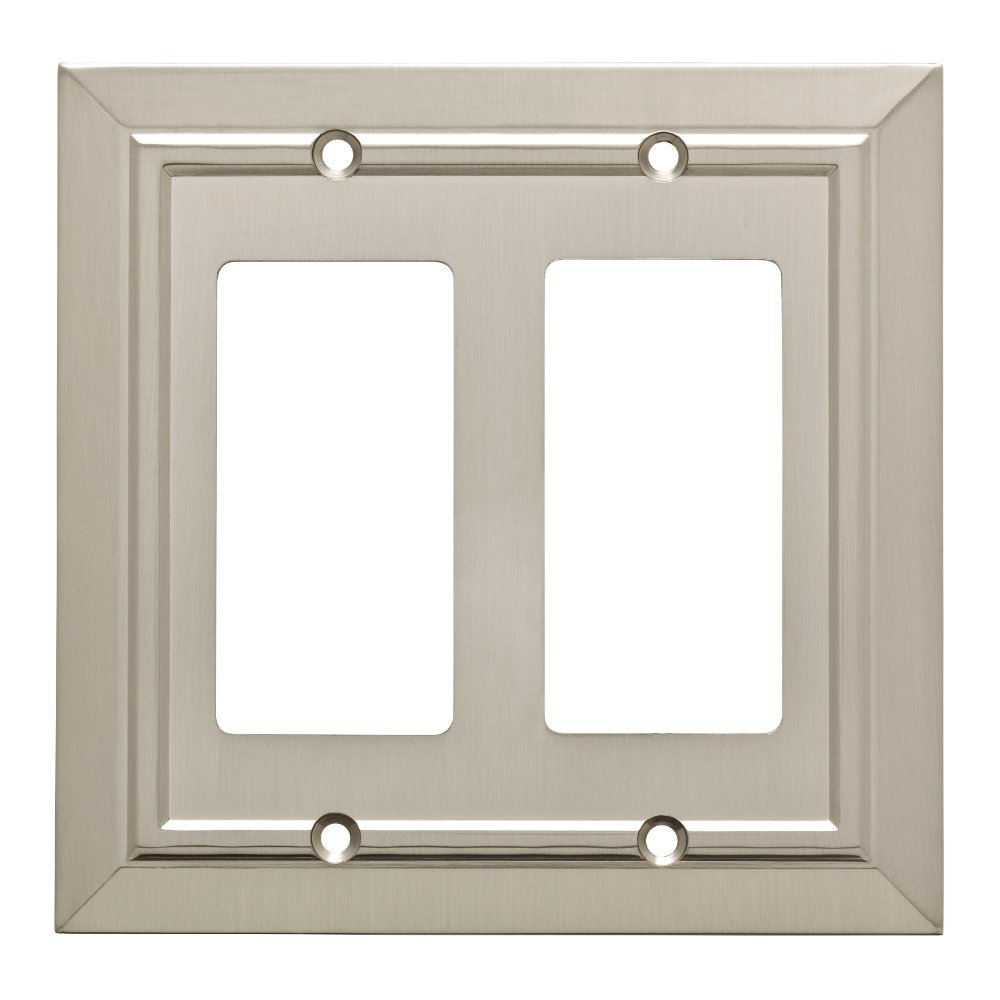 Franklin Brass W35224-SN-C Classic Architecture Double Decorator Wall Plate / Switch Plate / Cover, Satin Nickel