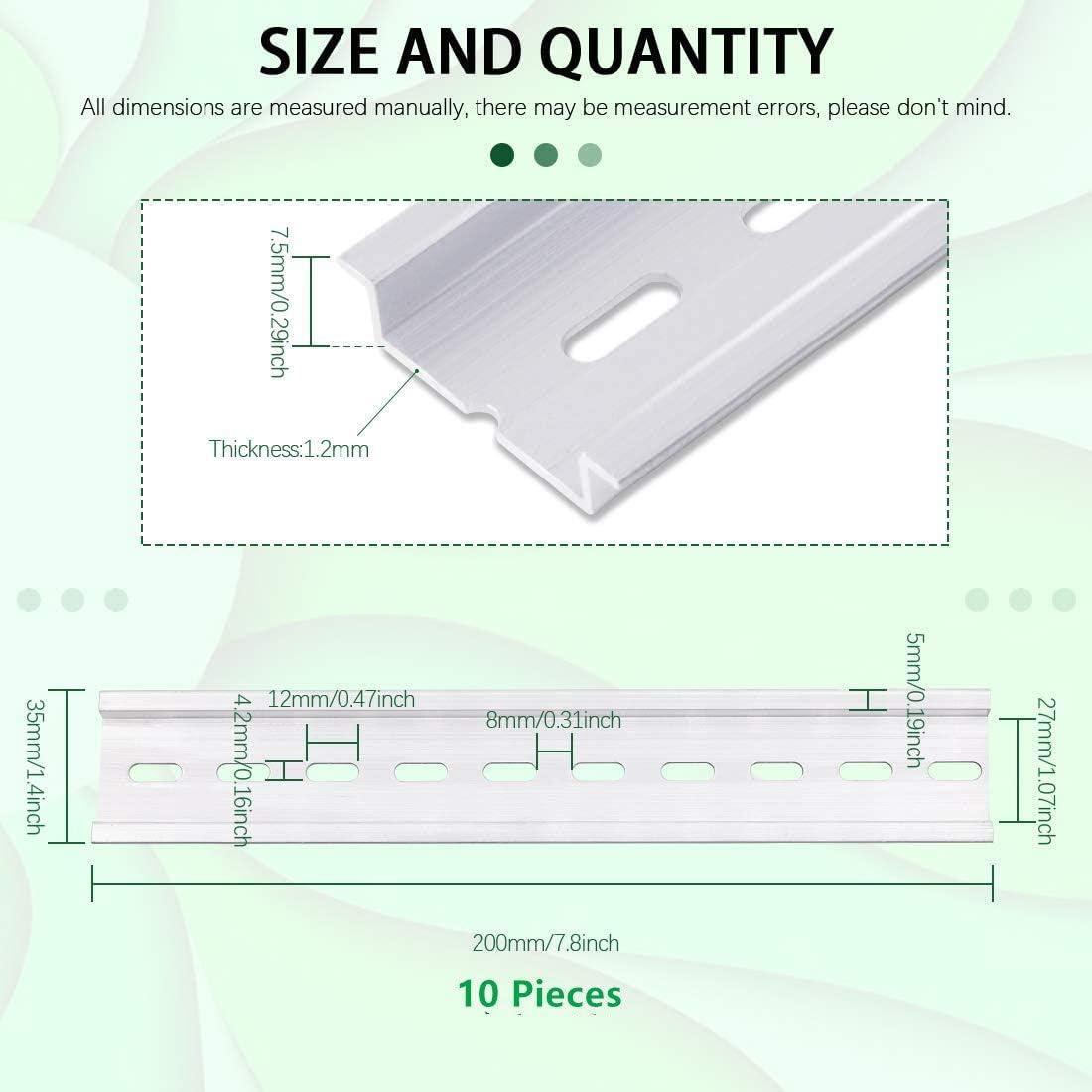 TAIANJI 10 St/ücke DIN Schiene Metall Hutschienen 20cm Montageschiene Hutschiene H/ängeschiene Schrank f/ür Verteilerschrank Schaltschrank einbau