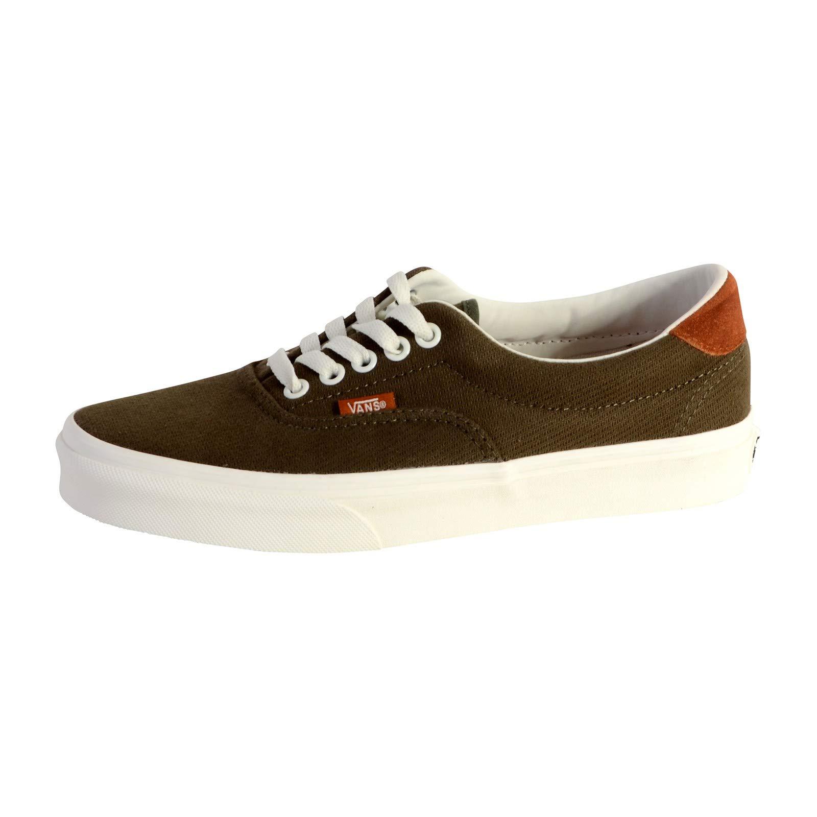 496e4718c63307 Galleon - VANS Unisex Era 59 Skate Shoes (Flannel Dusty Olive