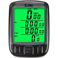 Limiwlw Cycling Computer Bicycle Speedometer Waterproof Bicycle Odometer Multi-Function Large LCD Back-light Display with Cycling Safety Flashlight