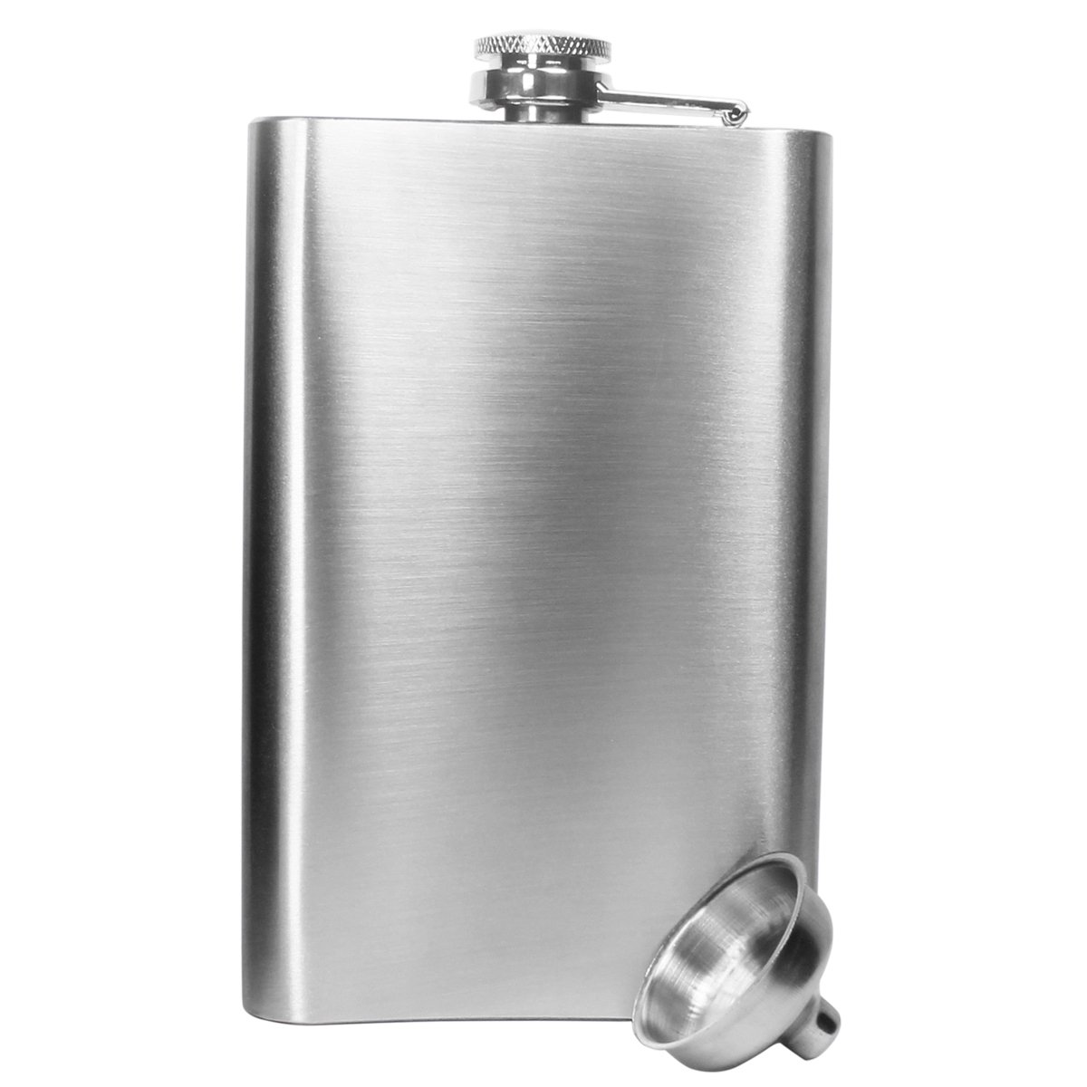 Hip Flask Flask Alcohol Stainless Steel Hip Flask for Men 10 oz with Handy Funnel in Stainless Steel for Storing Whiskey//Alcohol,Silver