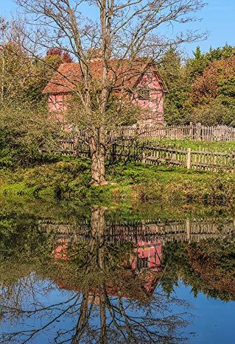 Tudor Style House - Photography Poster - Tudor Style House, Museum, Pond, 24