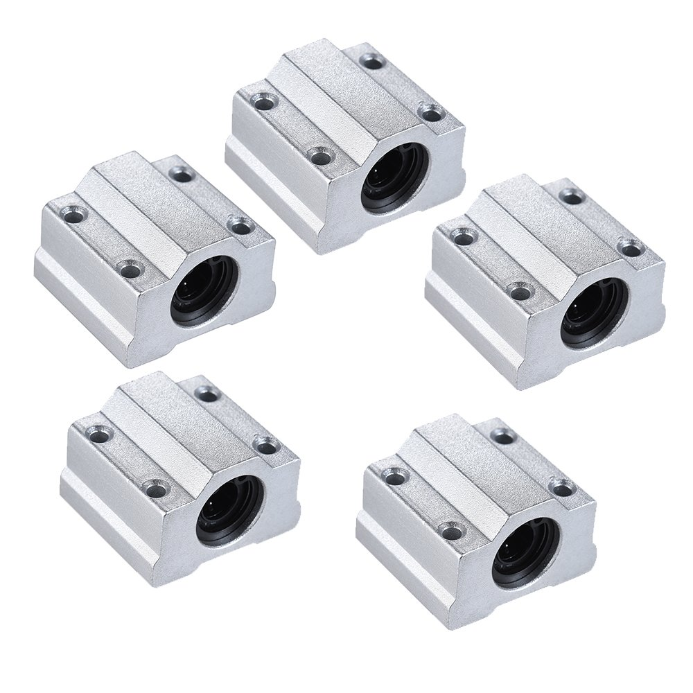 Aibecy 5x Linear Motion Ball Bearing SCS8UU 8mm 3D Stampante Accessori Blocco CNC Router Slide Unit RepRap DIY Kit Parti