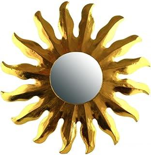 Feng Shui Spiegel Dekospiegel Sonne Ø 40 cm aus Holz gold bemalt ...