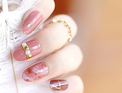 24pcs 12 diferentes tamaño teñido rosa dorado con purpurina línea Rhinestone Pearl decorada Tamaño Mediano longitud
