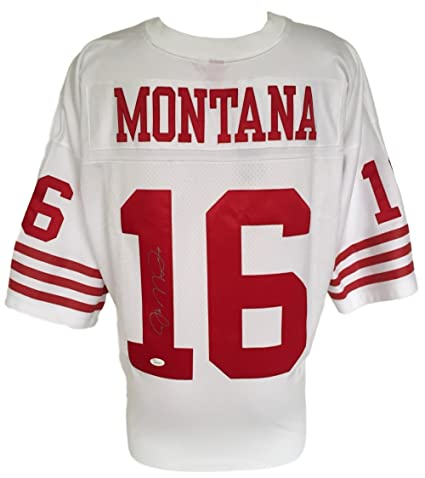 lowest price 3de4c 2fa72 Amazon.com: Joe Montana Signed SF 49ers White Replica ...
