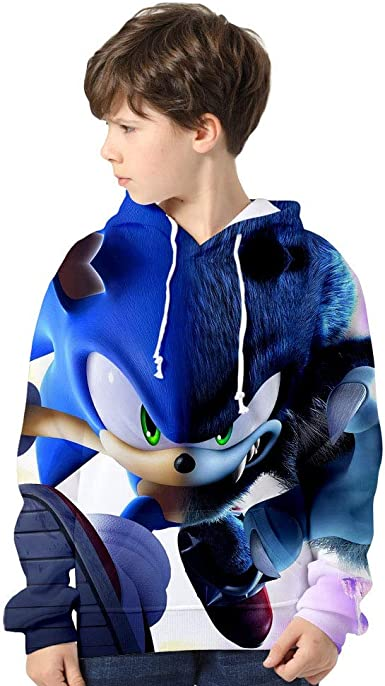 Amazon Com Dcsdcsdcsd Sonic The Hedgehog Hoodie 3d Print Unisex Pullover Sweatshirts For Boys Girls Kids Clothing
