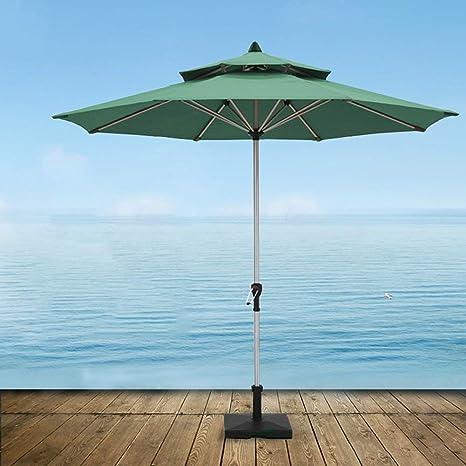 LNDDP Sombrillas Market Patio Sombrilla al Aire Libre Jardín Césped Mesa Canopy Sun Top Doble Paraguas Aluminio Protección UV (Color: veroscuro): Amazon.es: Deportes y aire libre