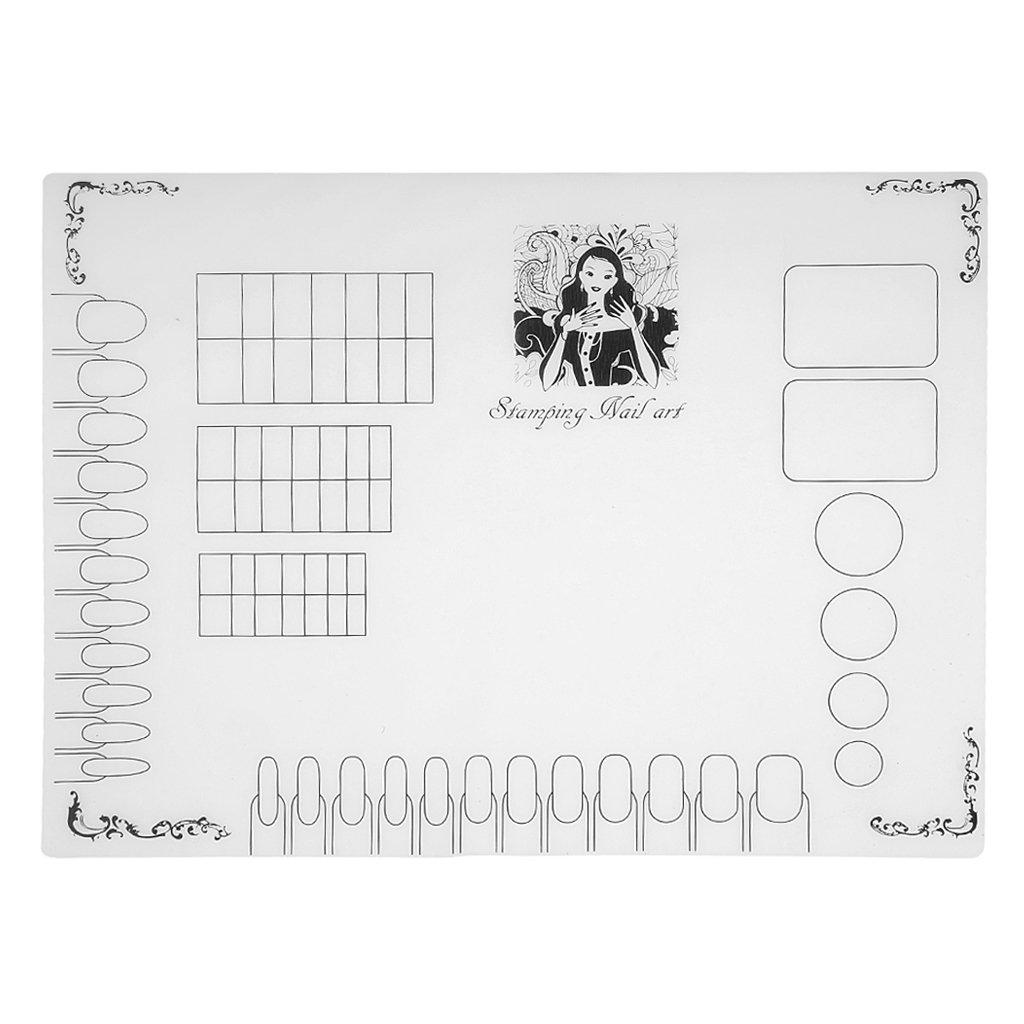 Gazechimp Nagelkunst und Stempel Nageldesign Silikon Matte DIY Nail Art Silikonmatte - Nailart Stamping Mat - Typ #03