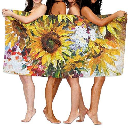 ZGZGZ Sunflower Golden Sun Beach Towels Beach Blanket Pool Towel Travel Bath Towel -