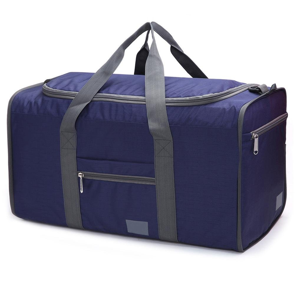 Waterproof Gym Sports Bag Lightweight Storage Carry Duffle Tote Bag for Luggage Gym Sports Big-time Foldable Travel Duffel Bag