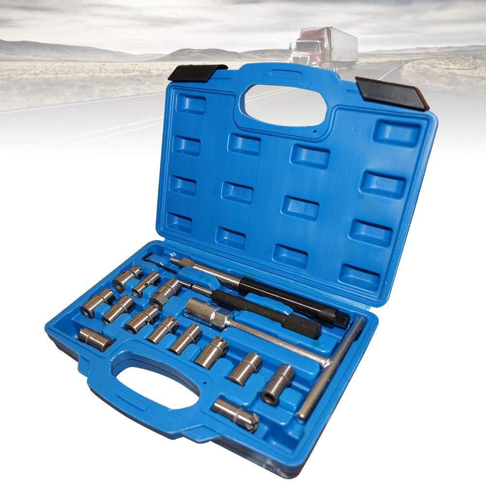 SHIOUCY 17 pcs Coffret Outils Nettoyage de Siege Puits Injecteur Diesel siè ge kit de Nettoyage extracteur extracteur DHL