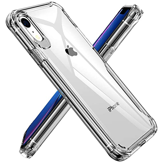 more photos ba83e 1ee9b Clear Case for iPhone XR 6.1 Inch, Diaclara Shock Absorption Hybrid  Protective Cover Compatible with Apple XR 2018- Crystal Clear