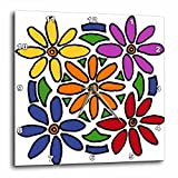 Cheap 3dRose dpp_196256_3 Colorful Daisy Flowers Art Abstract Wall Clock, 15 by 15″