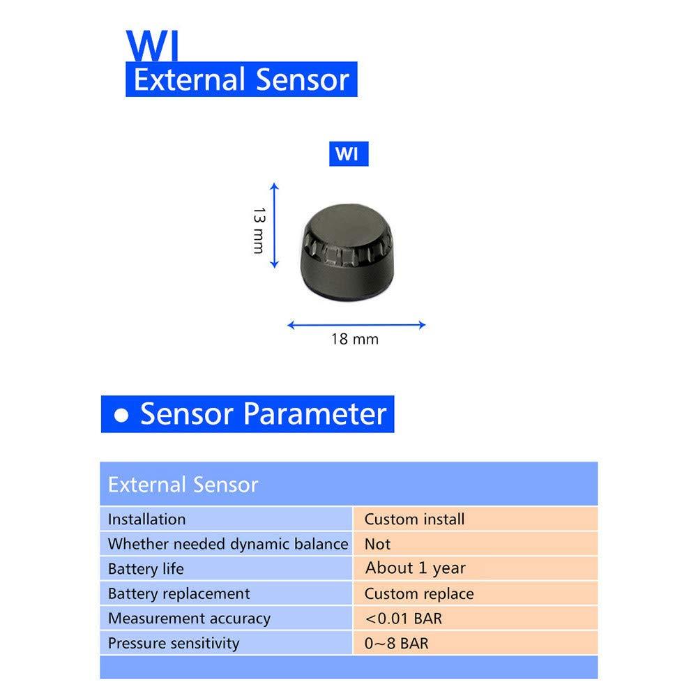 TPMS Syst/ème de surveillance de la pression des pneus Alarme de pneu Auto moteur sans fil /étanche avec 2 capteurs pour moto /à deux roues sensor 23X15