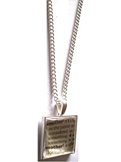Mummy pendant necklace with dictionary word definition gift boxed mother dictionary word definition in pendant with necklace gift boxed mozeypictures Gallery