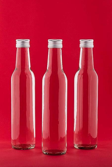 casa-vetro Botellas de Cristal (250 ML Bo Botellas de Botellas de Zumo con