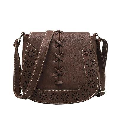 Sacs à main sacs à main sacs à main mode creux épaule Messenger Bag, noir