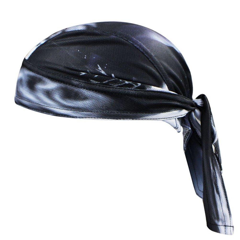 Uriah Cycling Cap Polyester Head Wrap Skull Fire Aogda