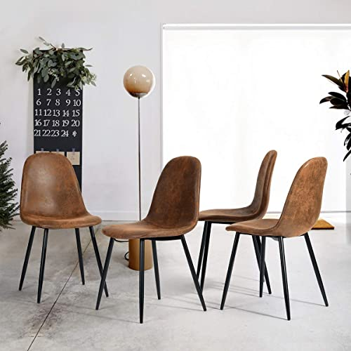 CozyCasa Dining Chairs Set of 4 Modern Style Mid Century Chair