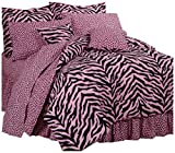 Karin Maki Zebra Complete Bedding Set, Queen, Pink