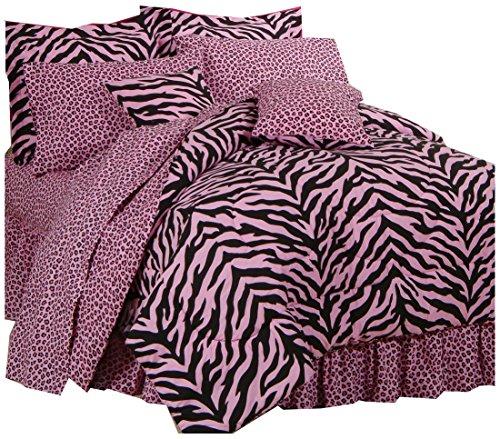 Karin Maki Zebra Complete Bedding Set, Twin, Pink