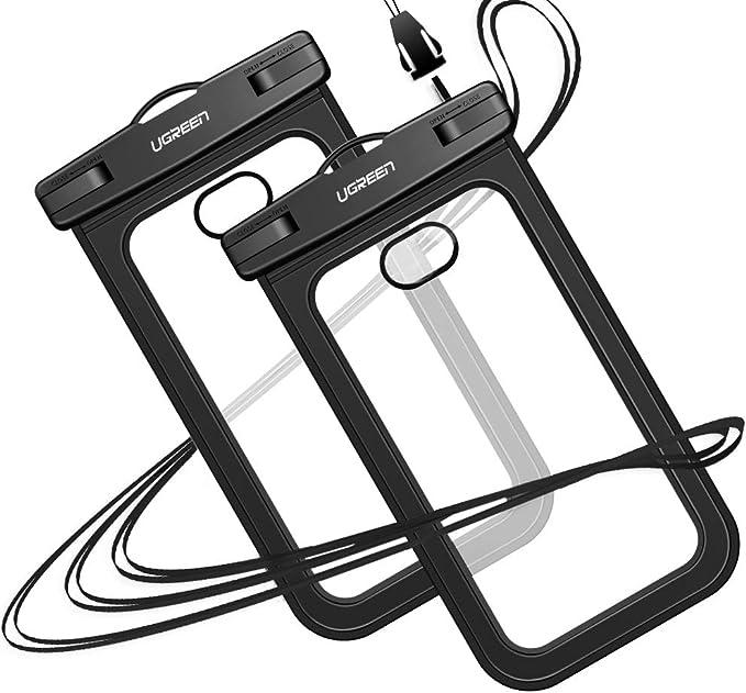 27 opinioni per UGREEN 2 Pack Custodia Impermeabile Smartphone Fino a 6.5'', IPX 8Sacchetto