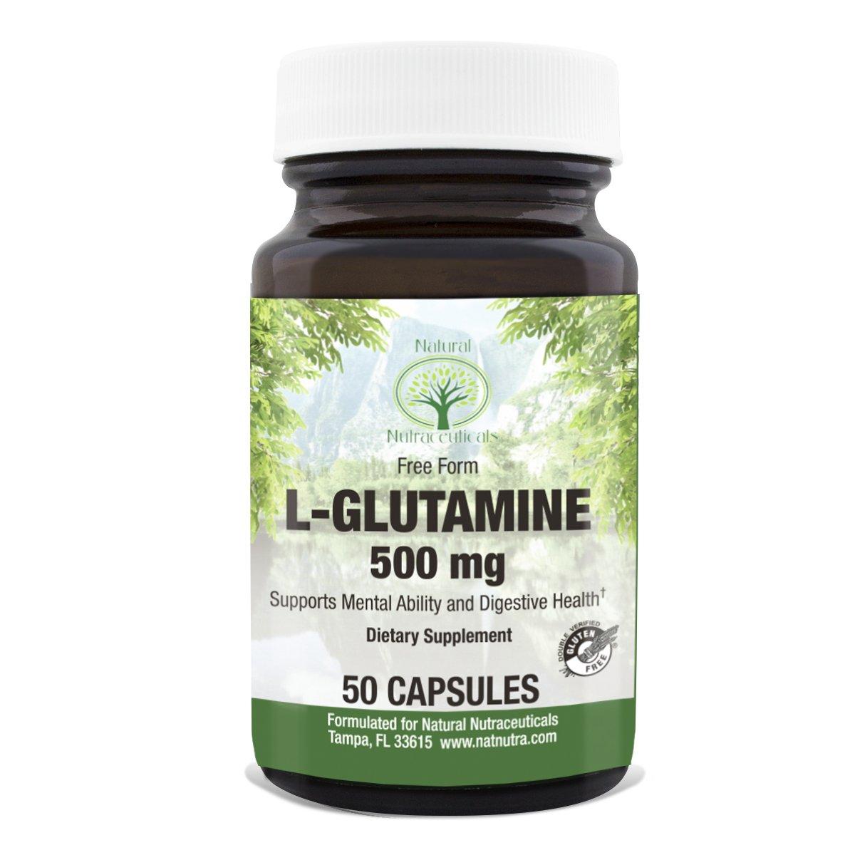 Natural Nutra L-Glutamine, 50 Capsules, 500 mg