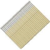 100 pcs P100-E2 Test Pins, Pogo Pins P100 Brass Pogo Pins Dia 1.5mm Pogo Pins Conical Head Pogo Pin Test Tools