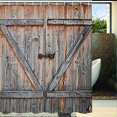 Barn Wood Door Shower Curtain