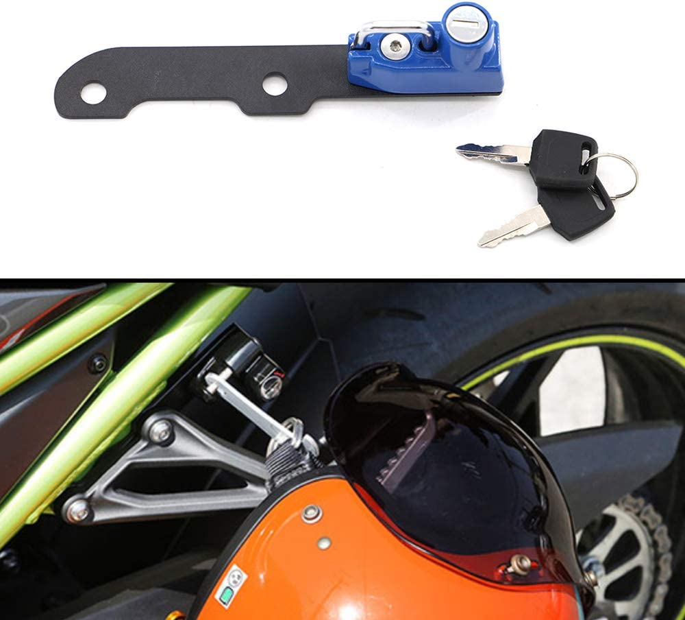Motorcycle Helmet Lock Anti-Theft For Kawasaki Z900 2017 and later Green
