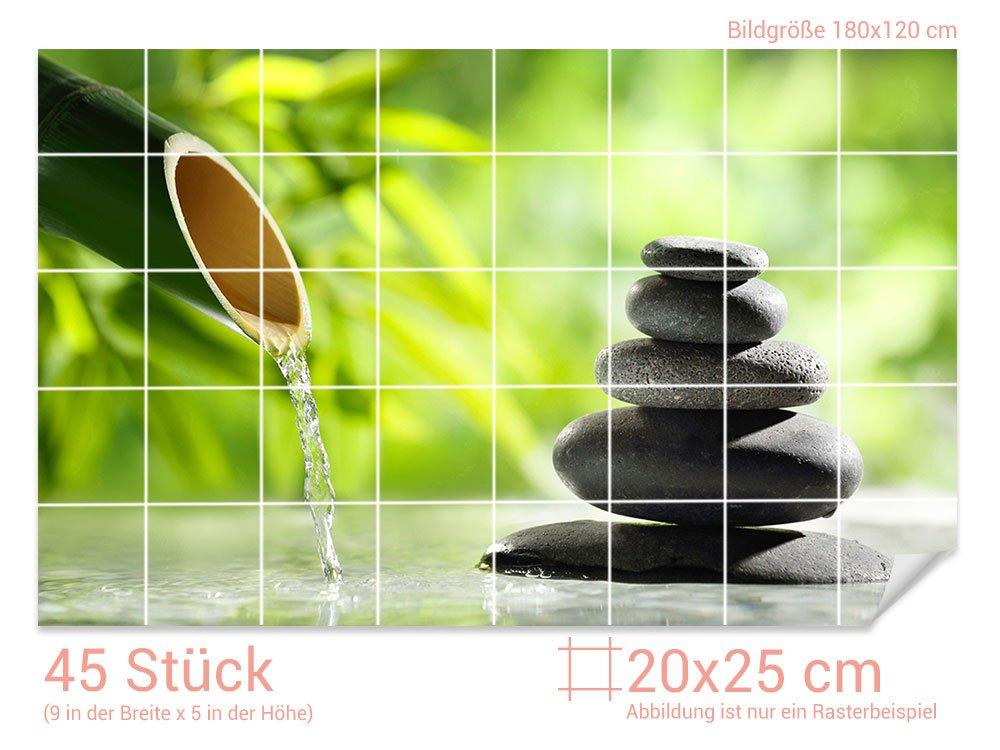 Graz Design 761739 20x25 120 Fliesenaufkleber Steine Bambus Fur