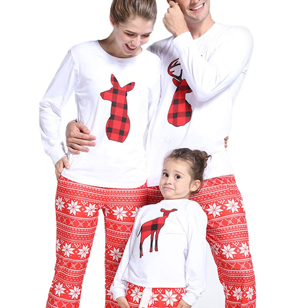 372d592195 Amazon.com  Family Matching Snowflack Deer Holiday Winter ELK Pajama PJ  Sets Men Women Boy Girl Kids Christmas Family Nightwear Pajamas Set (Daddy  Xmas