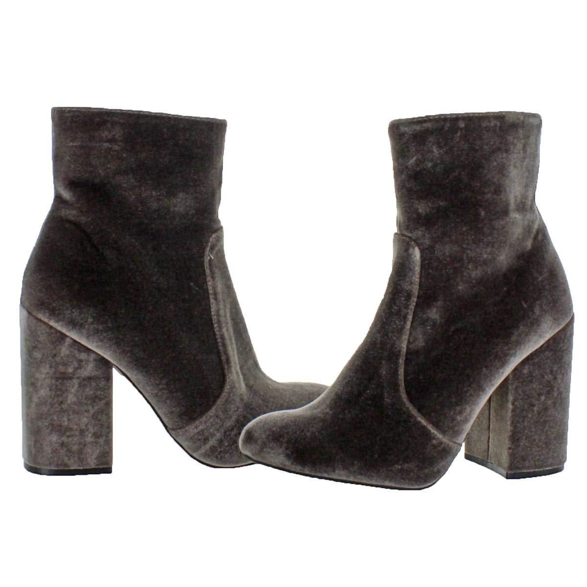 db24ddf4a77 Amazon.com | Steve Madden Women's Adalyn Velvet Chunky Heel Ankle ...