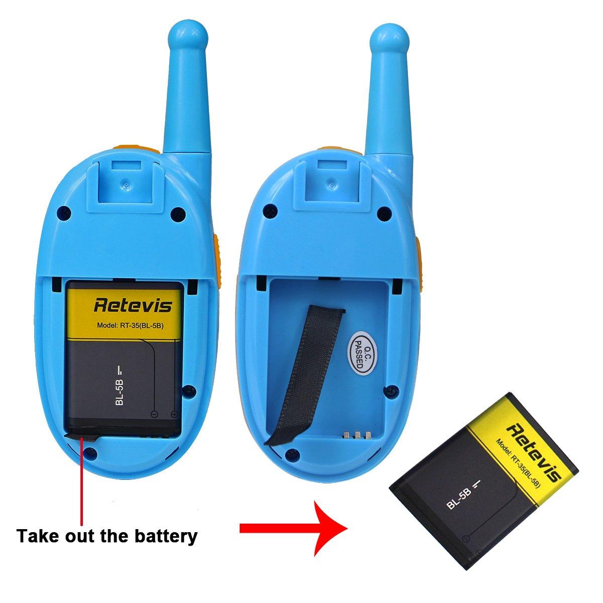 Retevis RT35 Kids Walkie Talkies USB License-Free Digital Alarm Clock 2 Way Radio(Blue, 4 Pack) by Retevis (Image #5)